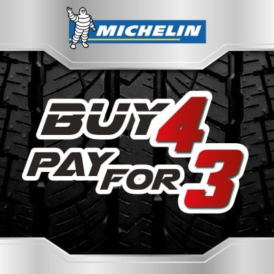 Tyre Deal Buy 3 get 4 on Michelin tyres