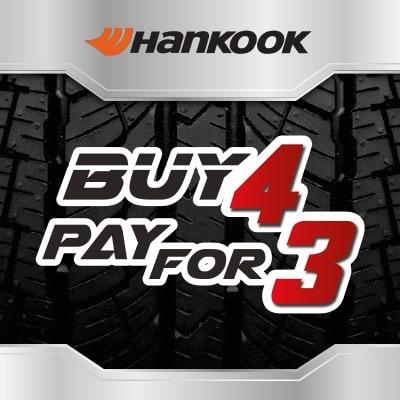 Tyre Deal Buy 3 get 4 on Hankook tyres